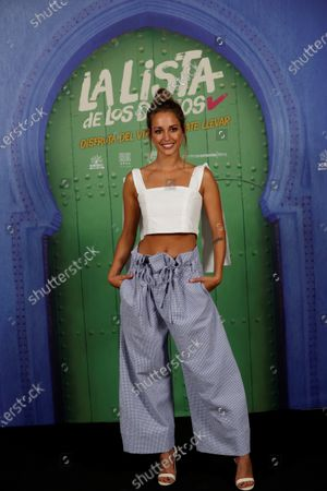 Silvia Alonso poses for the photographers during the presentation of film 'La lista de los deseos' (lit. The Wishes' List) at a hotel in Madrid, Spain, 30 June 2020. The film opens in Spanish cinemas on 03 July. 2020.