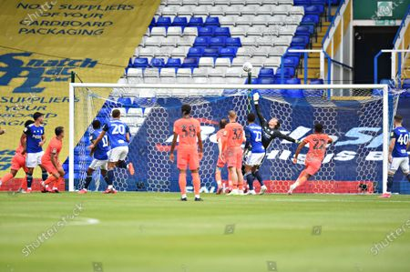 Goal Keeper Lee Camp of Birmingham City makes a save.