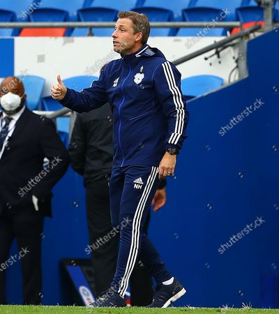 Stock Picture of Cardiff City manager Neil Harris gives a thumbs up