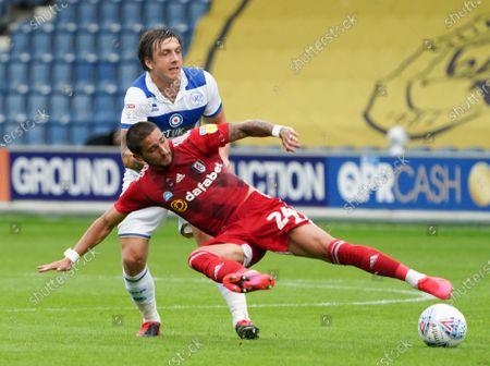 Anthony Knockaert of Fulham and Jordan Hugill of QPR