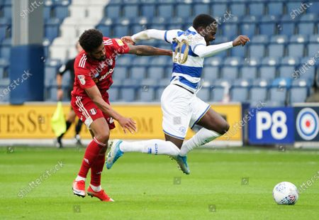 Bright Osayi-Samuel of QPR gets away from Cyrus Christie of Fulham