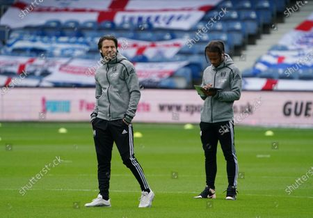 Harry Arter of Fulham on the pitch before the match