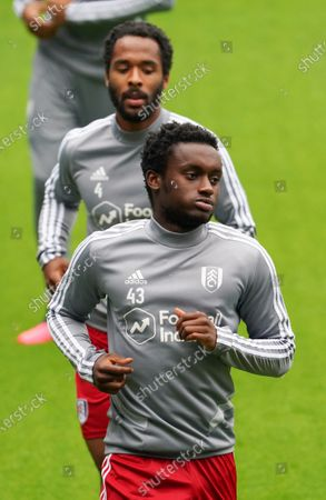 Steven Sessegnon and Dennis Odoi of Fulham during the warm up