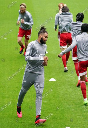 Michael Hector of Fulham during the warm up