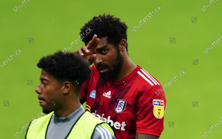 Match winner Cyrus Christie of Fulham at full time