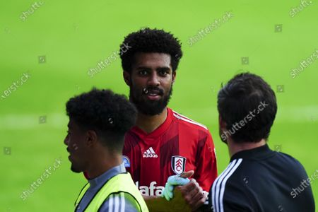 A happy match winner Cyrus Christie of Fulham at full time