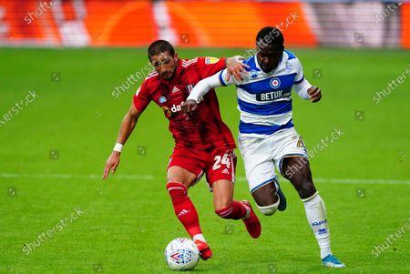 Anthony Knockaert of Fulham battles with Bright Osayi-Samuel of QPR