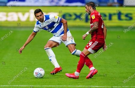 Anthony Knockaert of Fulham and Yoann Barbet of QPR