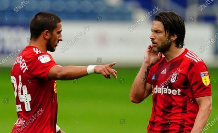 Anthony Knockaert talks with Harry Arter of Fulham