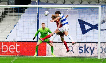Jordan Hugill of QPR scores a goal 1-0