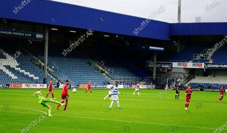 Goalkeeper Marek Rodak of Fulham kicks upfield