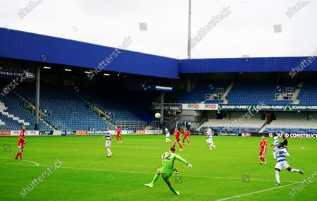 Goalkeeper Marek Rodak of Fulham clears upfield