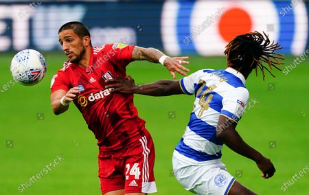 Anthony Knockaert of Fulham gets away from Osman Kakay of QPR