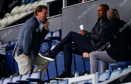 QPR Chief Executive Lee Hoos with Director of Football Les Ferdinand