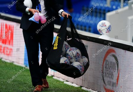 Balls and disinfectant ahead of kick off