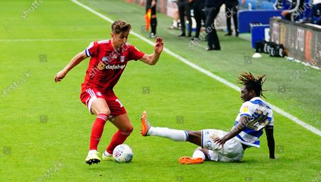 Tom Cairney of Fulham battles with Osman Kakay of QPR