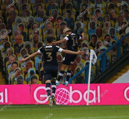 Harry Cornick celebrates scoring Lutons first goal