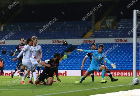 Helder Costa of Leeds United fails to score from a good chance