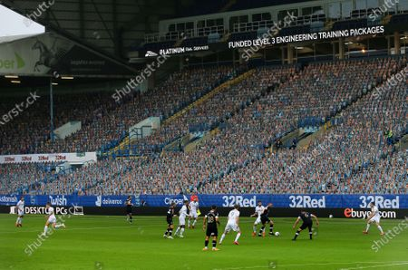 A general view during the game