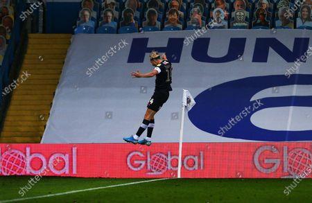 Harry Cornick of Luton Town celebrates scoring the opening goal