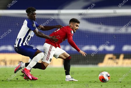 Editorial picture of Brighton and Hove Albion v Manchester United, Premier League, Football, American Express Community Stadium, Brighton, UK - 30 Jun 2020