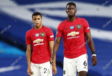 Paul Pogba and Mason Greenwood of Manchester United.