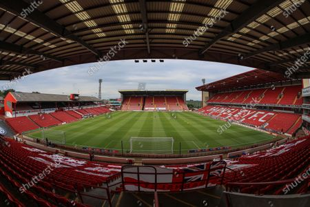 A general view of Oakwell before this evenings early kick-off