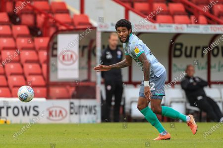 Dominic Samuel (12) of Blackburn Rovers in action during the game
