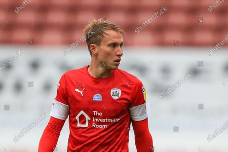 Cauley Woodrow (9) of Barnsley during the game