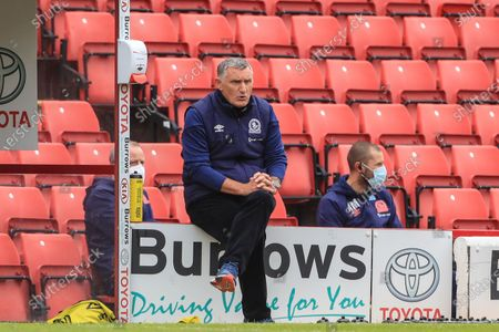 Blackburn Rovers Manager Tony Mowbray during the game