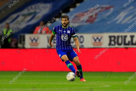 Sam Morsy (5) of Wigan Athletic runs with the ball