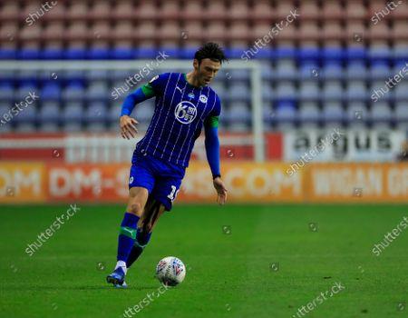 Kieffer Moore (19) of Wigan Athletic