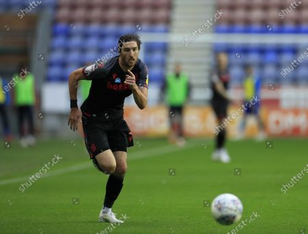 Stephen Ward (3) of Stoke City runs with the ball