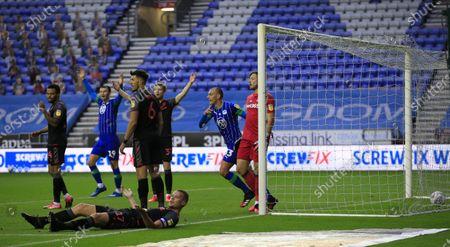 Editorial picture of Wigan Athletic v Stoke City, Sky Bet Championship, Football, DW Stadium, Wigan, UK - 30 Jun 2020