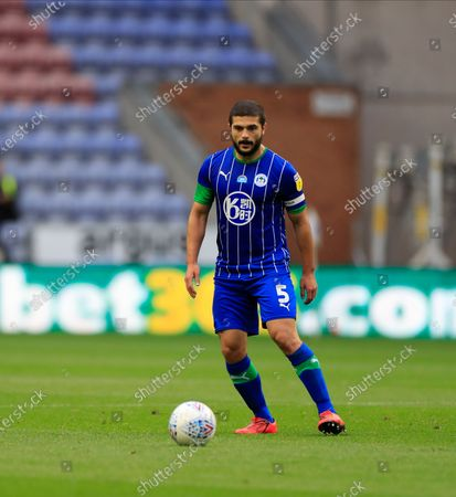 Stock Image of Sam Morsy (5) of Wigan Athletic controls the ball