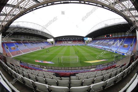 Inside the DW stadium, home of Wigan Athletic