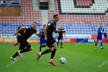 James McClean (11) of Stoke City runs with the ball