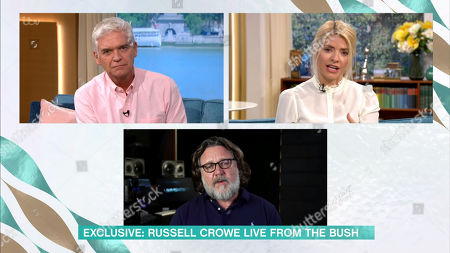 Phillip Schofield, Holly Willoughby, Russell Crowe