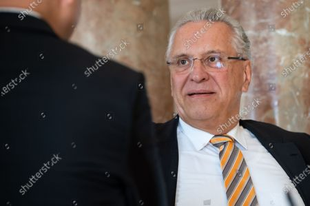 Bavaria's Interior Minister Joachim Herrmann (CSU) attends a cabinet meeting in Munich, Germany, 30 June 2020. In order to keep more distance from each other, the cabinet meeting took place in the large domed hall of the Bavarian State Chancellery. The focus of the meeting is the coronavirus crisis.