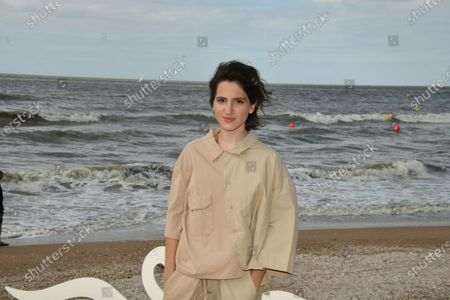 Aloise Sauvage attends a photocall prior to the closing ceremony of the 34th Cabourg Film Festival