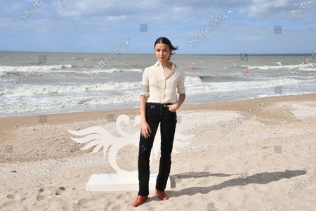 Carmen Kassovitz attends a photocall prior to the closing ceremony of the 34th Cabourg Film Festival
