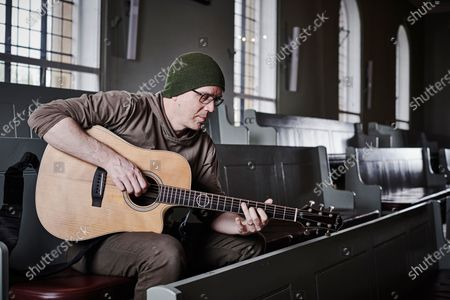 Stock Picture of Portrait of Canadian rock musician Devin Townsend, photographed before a live performance at St George's Church in Bristol, England