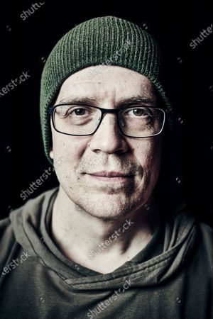 Portrait of Canadian rock musician Devin Townsend, photographed before a live performance at St Georgeâ€s Church in Bristol, England