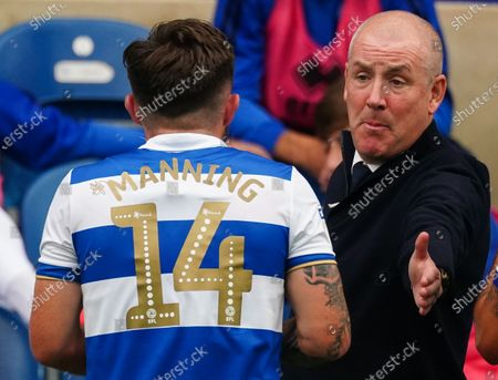 Mark Warburton Manager of QPR with Ryan Manning of QPR
