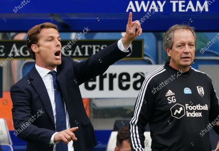 Scott Parker Manager of Fulham signals on the sideline