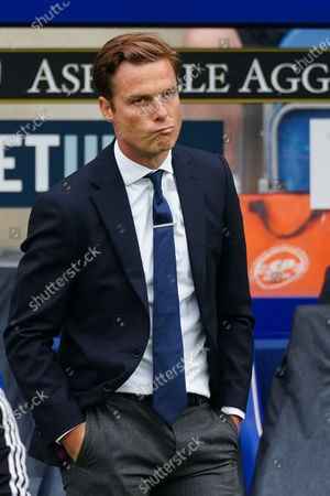 Scott Parker Manager of Fulham reacts on the sideline