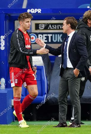 Tom Cairney of Fulham shakes hands with Tom Cairney of Fulham after their 2-1 win