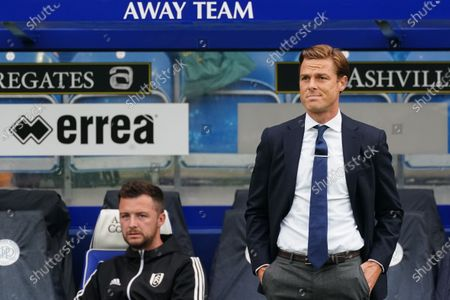 Scott Parker Manager of Fulham reacts on the sideline as Fulham concede an early goal