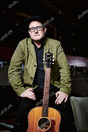 Portrait of American rock musician Craig Finn, photographed before a live performance at Komedia in Bath, England, on February 24, 2019. Fallon is best known as a member of The Hold Steady.