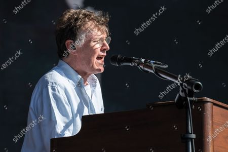 English musician Steve Winwood performing live on stage during British Summer Time festival at Hyde Park in London